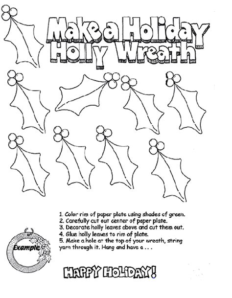 coloring pages christmas crayola holiday holly wreath crayola com au