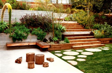 Landscaping Steep Hill Backyard by An Uphill Battle Turf Design Build Magazine Landscaping