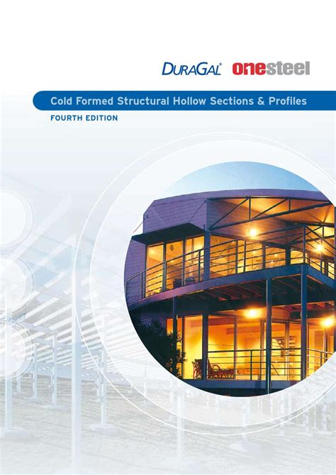 onesteel sections cold formed hollow sections profiles catalogue by