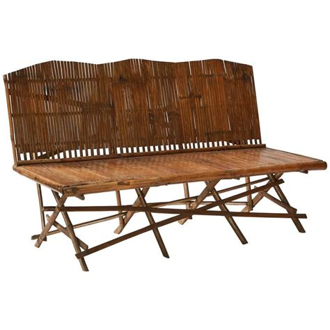 bamboo benches bamboo bench for sale at 1stdibs
