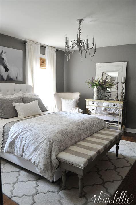 bedroom furniture   gray walls background