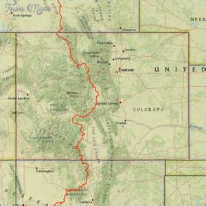continental divide trail colorado map travel