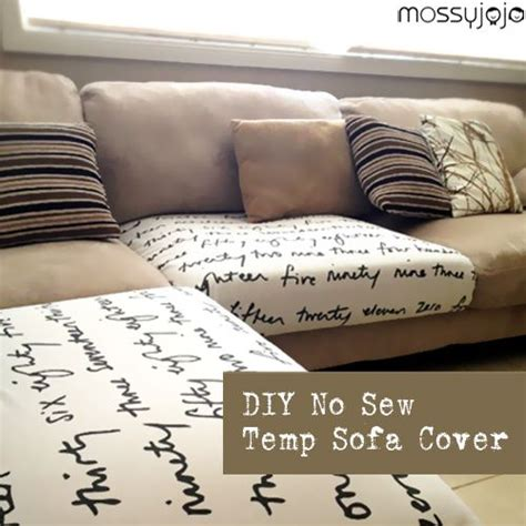 no sew couch slipcover 1000 images about sofa cover ideas on pinterest