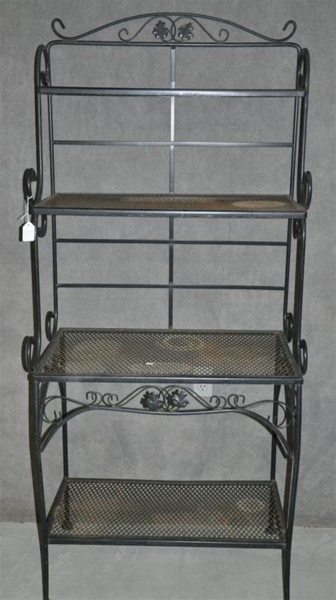Black Bakers Rack Iron by Black Wrought Iron Baker S Rack Lot 453 Garden Of