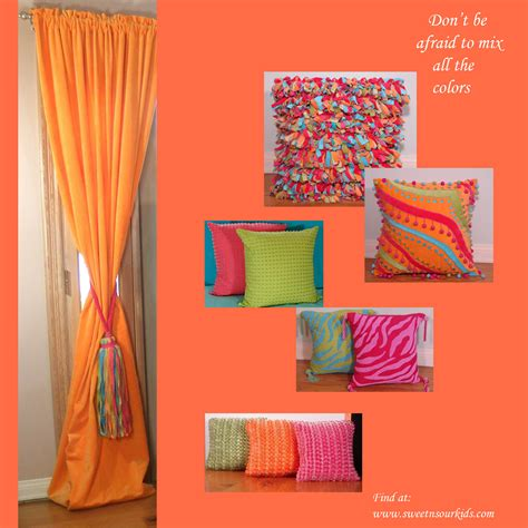 Bright colors for teen bedrooms fabulous girls pillows decor
