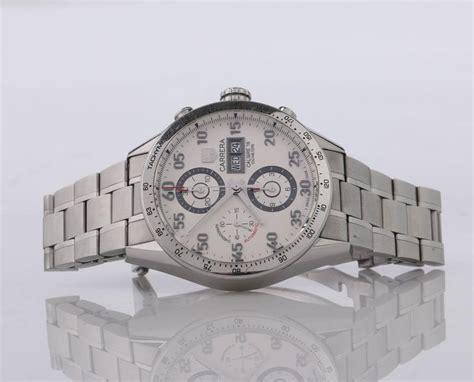 Tag Heuer Formula 1 Calibre 16 White Silver Brown Leather For tag heuer calibre 16 automatic chronograph 43mm