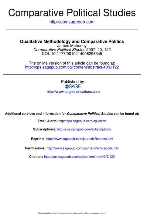 Pdf Cases Comparative Politics Fifth by Qualitative Methodology And Comparative Pdf