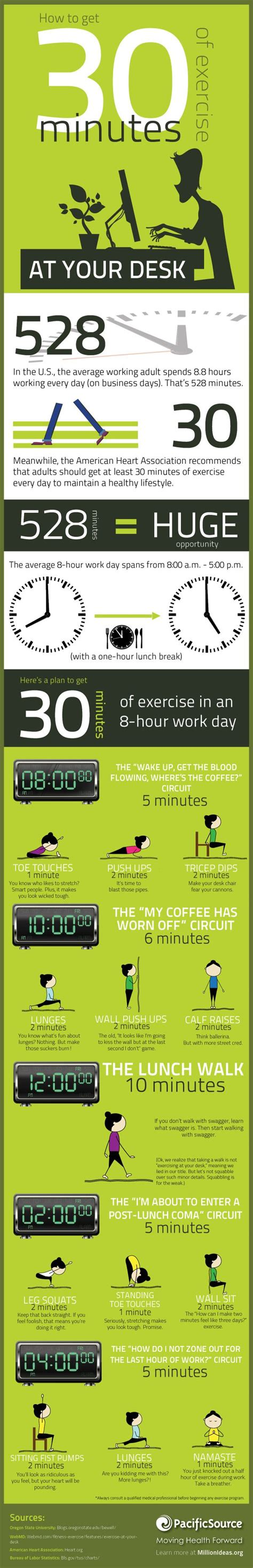how to get a desk job how to get 30 minutes of exercise at your desk by