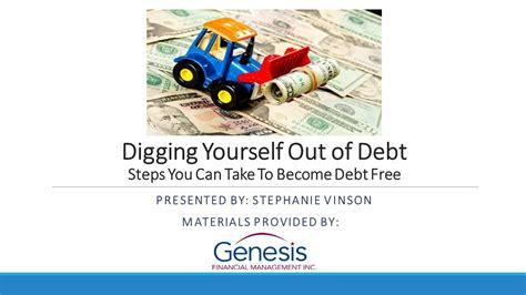 genesis debt management digging yourself out of debt