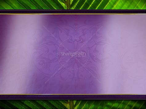 palm sunday template palm sunday powerpoint template easter sunday