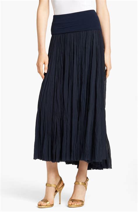 donna karan new york collection silk georgette maxi skirt