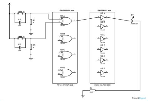 circuit diagram for xor gate schematic diagram wiring diagrams wiring