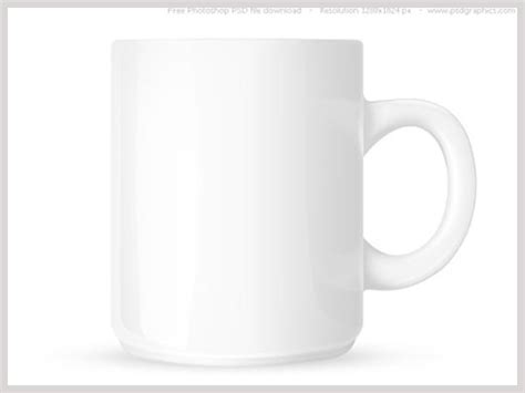 Free Psd White Coffee Mug Template Mug With Space For Text And Logo 1280 X 1024 Px Psd Mug Design Template