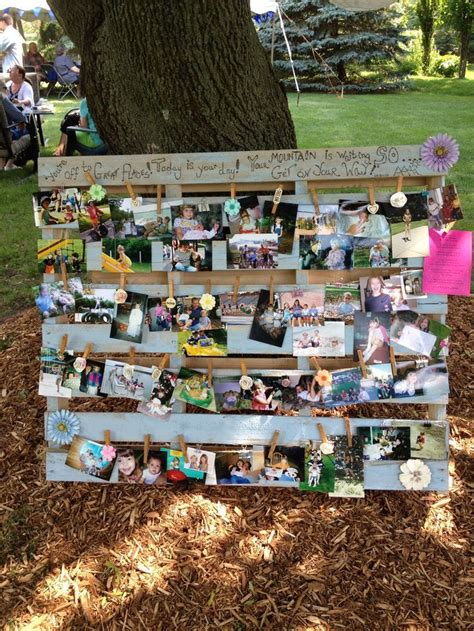 graduation ideas pallet picture display boards poster