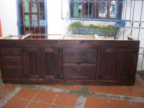 muebles de cocina madera rustica bajo mesada cocina rustica madera maciza 15 800 00 en
