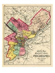 philadelphia county map 1872 philadelphia county and city outline map