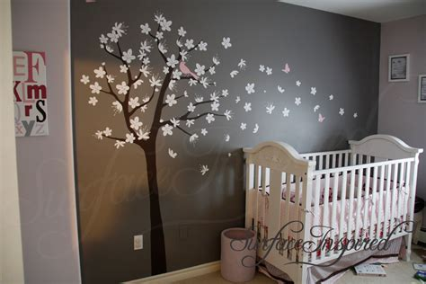Wall Decal Nursery Tree Wall Decals For Nursery Contemporary Tree Decal With Blowing