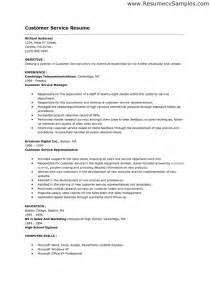 skill resume customer service skills resume free sles