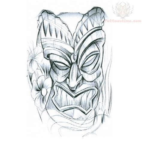 tiki tattoo designs shaded tiki mask design