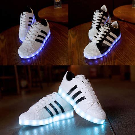 women men led night light couples sneakers light