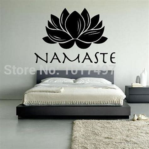 free wall stickers free shipping lotus namaste vinyl wall decal stickers