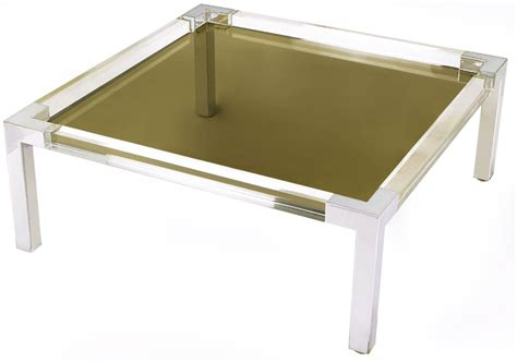 lucite and chrome terrarium coffee table at 1stdibs chrome and lucite coffee table with smoked glass top for