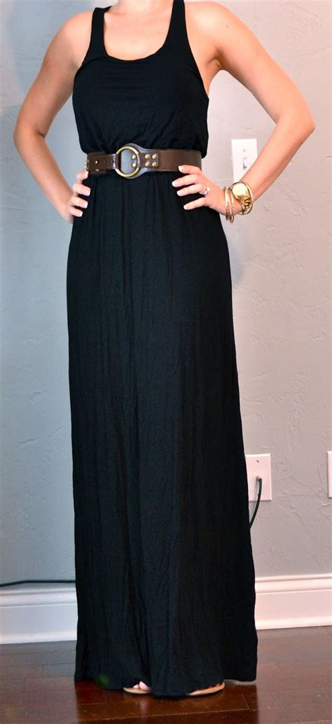 outfit post black maxi dress