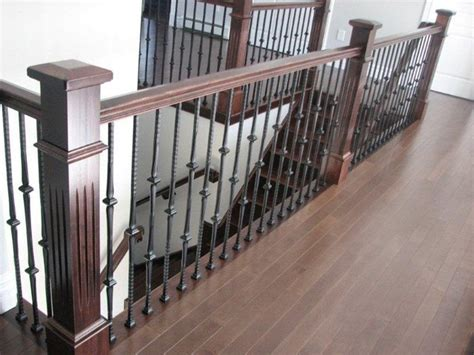 Metal Stair Banisters by Fluted Box Newels Metal Balusters Stairway
