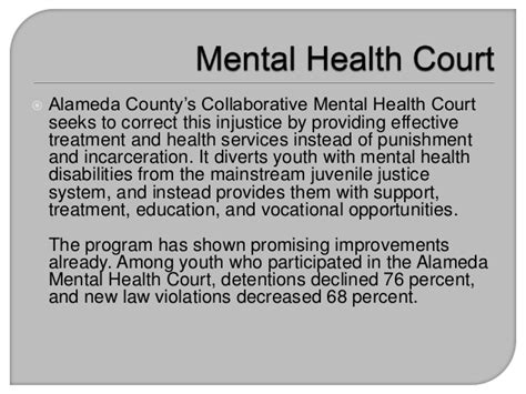 mental health court alameda county s collaborative mental health court