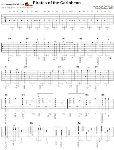 fingerstyle en la guitarra clases de guitarra piratas del caribe fingerstyle