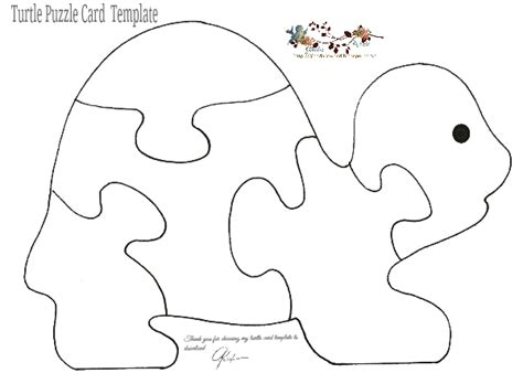 printable turtle puzzle glenda s world puzzle cards