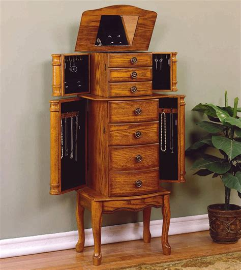 Powell Woodland Oak Jewelry Armoire by Powell Woodland Oak Jewelry Armoire Dunk Bright