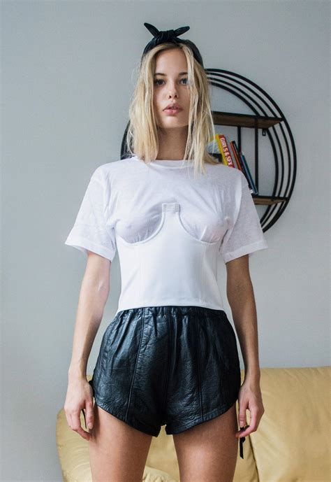 Bela Blouse By Morist 1 hadid goes braless in a sheer white top in nyc daily mail