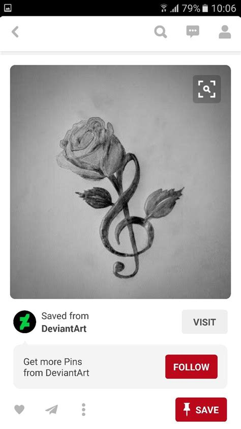 rose and music tattoo best 25 note tattoos ideas on