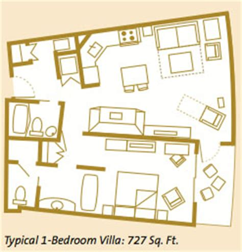 bay lake tower one bedroom villa floor plan bay lake tower at disney s contemporary resort guide