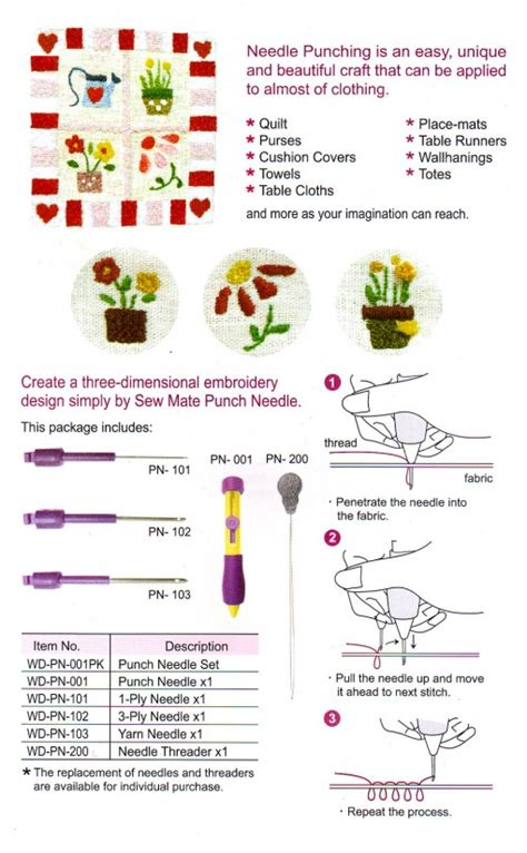 Punch Needle Set Alat Sulam Benang alat menyulam punch needle bordir tangan crafts