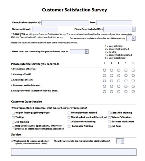 Survey Questions - customer satisfaction survey templates 7 sles exles format sle