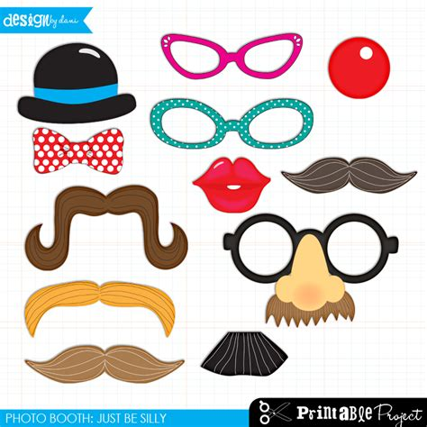 9 best images of fun photo booth printables printable
