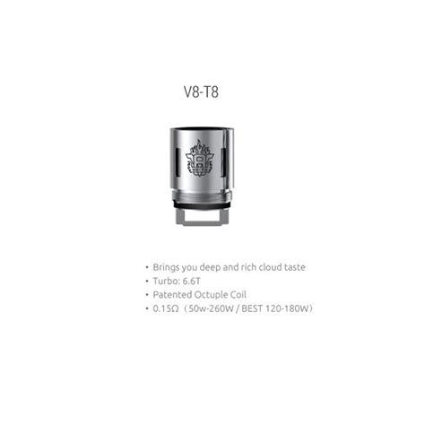 Authentic Smok V8 Baby T8 0 15 Ohm Untuk Tfv8 Baby 5pcs authentic smoktech smok v8 t8 3 pcs 0 15 ohm coil for tfv8 tank