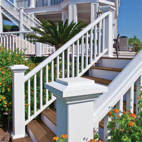 Composite Balusters For Decks Azek Reserve Rail In White With Composite Balusters