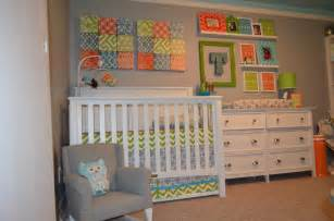 Green blue and orange nursery project nursery