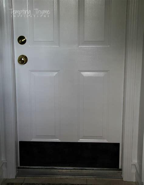 Interior Door Kick Plates Plywood Kick Plate For An Interior Door Diy Tempting Thyme