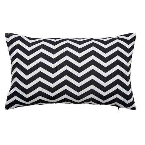 black and white outdoor cushions uk talaia white black outdoor cushion 30 x 50cm maisons du