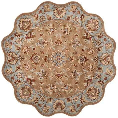 scalloped rug safavieh heritage blue beige 9 ft x 12 ft area rug hg822a 912 the home depot