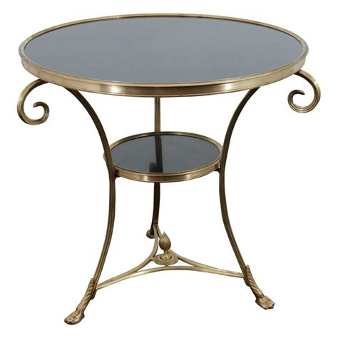 Bronze Accent Table Vintage Two Tier Bronze And Black Granite Accent Table At 1stdibs