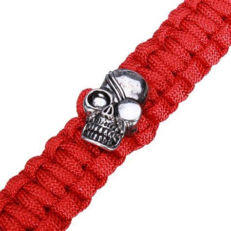 skull paracord skull paracord bracelet stainless steel buckle survival