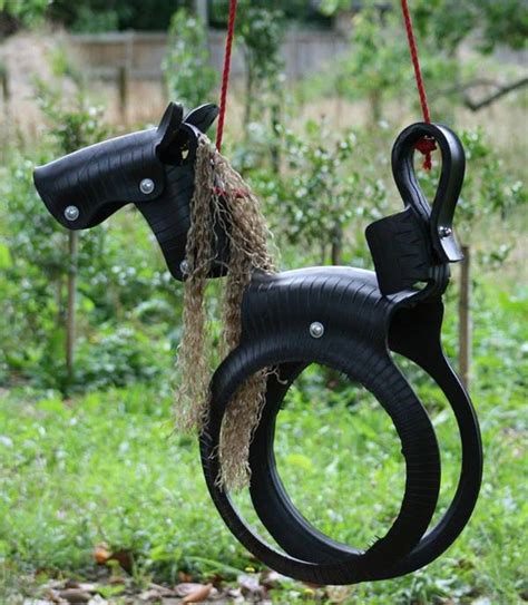 tire swing horse diy tyre horse swing fun crafts kids