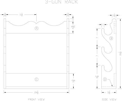 Gun Rack Template by Pdf Gun Rack Plans Plans Free