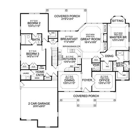 perfect floor plans the sturbridge ranch house plan offers an open first floor