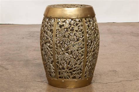 Garden Drum Stool by Brass Drum Drink Table Or Garden Stool For Sale At